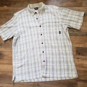 Patagonia Plaid Organic Cotton Button Up Shirt XL